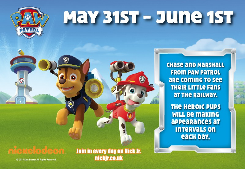 Paw Patrol at the Worth Valley Railway