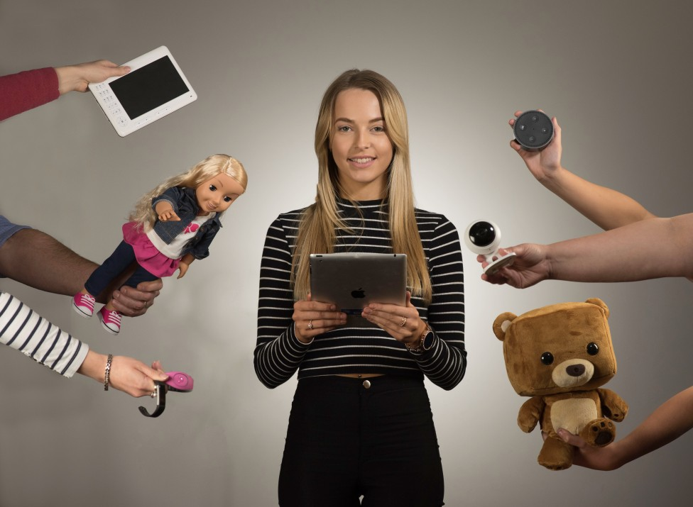 Model with internet connected devices