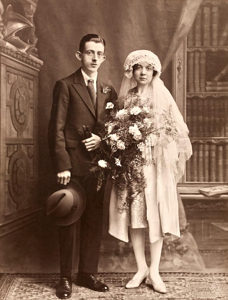 An early Belle Vue wedding portrait