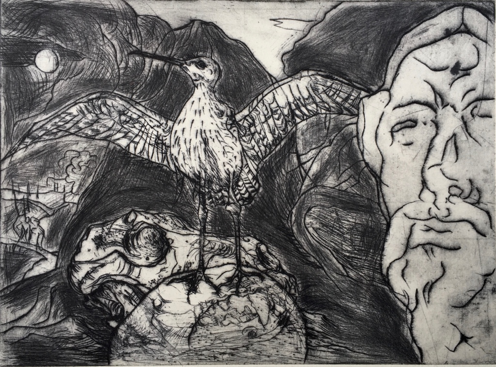 Stuffed Whimbrel, Stone Head and Reference to El Greco